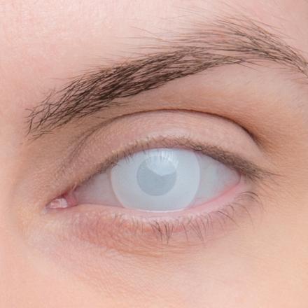 Карнавальные линзы Lensmam Blind White 2